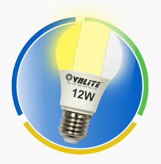 Đèn Led A Bulb 3 chế độ màu 12w