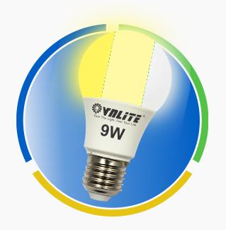 Đèn Led A Bulb 3 chế độ màu 9w