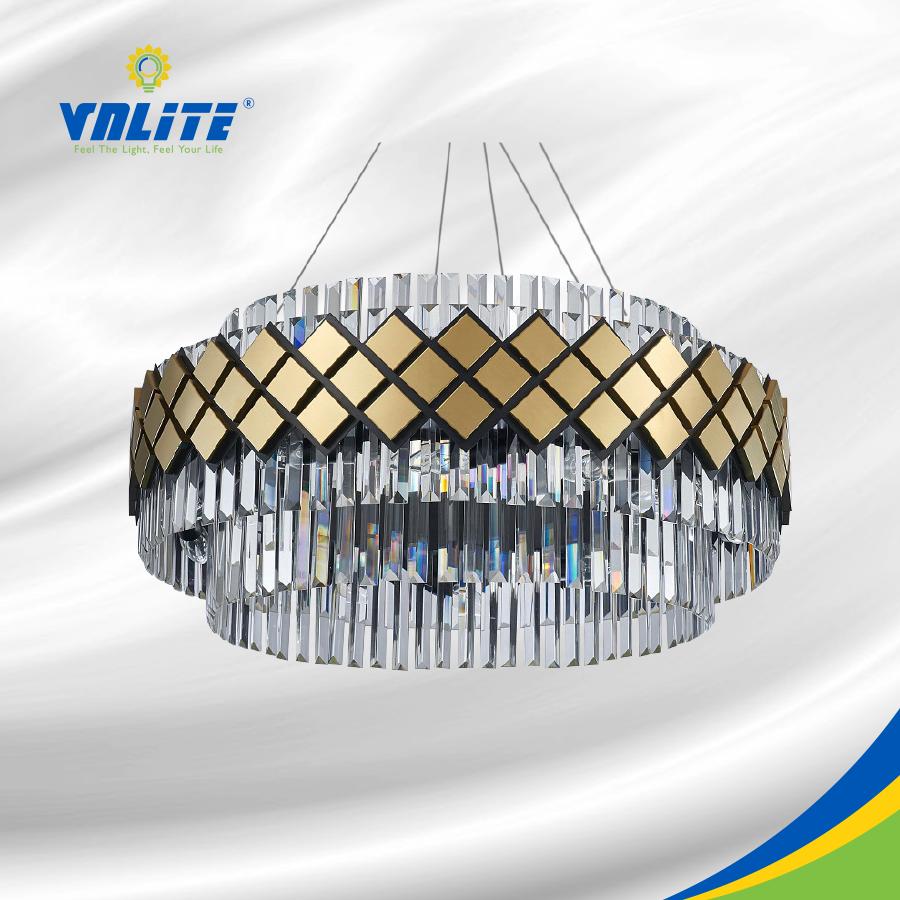 Đèn LED Mâm Thả Trần Dạng Thanh Pha Lê - VNLDECOR15